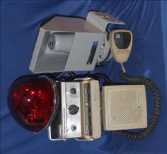 Vintage Police & Fire Radios at dcaptain.com