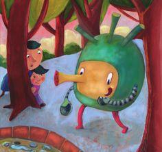 OTRA VUELTA: La Merienda de los marcianos-Editado por Ed.Guadal... Drawings, Blog, Painting, Art, Afternoon Snacks, Illustrations, Painting Art, Sketch, Blogging