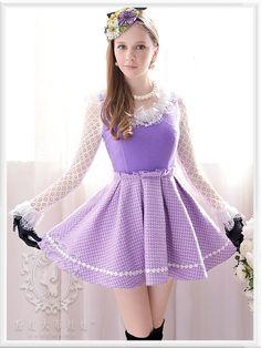 Mango Doll - Purple Plaid Wool Dress , $116.00 (http://www.mangodoll.com/all-items/purple-plaid-wool-dress/)