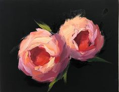 "Daily Paintworks - ""Peonies-2-"" - Original Fine Art for Sale - © Naomi Bautista"
