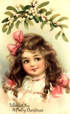 Vintage Frances Brundage Christmas postcard * 1500 free paper dolls Christmas gifts artist Arielle Gabriels The International Paper Doll Society also free paper dolls The China Adventures of Arielle Gabriel *