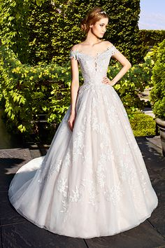 Wedding gown by Moonlight Couture (Style H1323).
