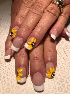 sunflower nails  nails in 2019  sunflower nails bride