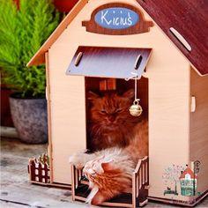 "Domek dla kota ""Koci Łapci"""