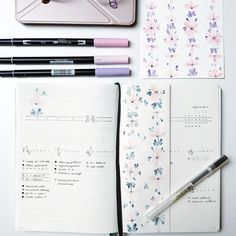 Trying this out. 🌸 #flatlay #bulletjournal #bulletjournaling