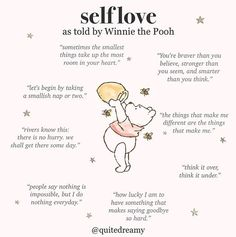 self love quotes Words Quotes, Me Quotes, Motivational Quotes, Inspirational Quotes, Sayings, The Words, Winnie The Pooh Quotes, Piglet Quotes, Self Care Activities
