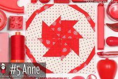Anne is Block 5 of Farmer's Wife 1930's Sampler Quilt