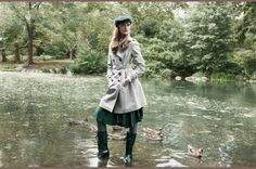 Trench with boots ... A fall go to