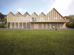 Archio scoops planning for Cotswolds community centre Healthcare Architecture, Architecture Company, Architecture Collage, Wood Architecture, Architecture Visualization, Concept Architecture, Youth Center, Modern Library, Centre