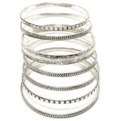 Forever 21 Ornate Etched Bangle Set ($6.90) ❤ liked on Polyvore featuring jewelry, bracelets, forever 21 bangle, etched jewelry, forever 21 jewelry and forever 21