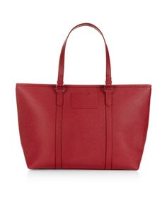Isabella Winged Tote Bag | Red | Accessorize