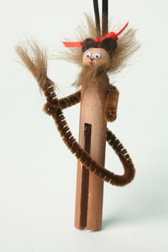 Cowardly Lion Wizard of Oz clothespin ornament Craft Kit