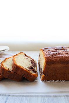 Vanilla and homemade-nutella pound cake