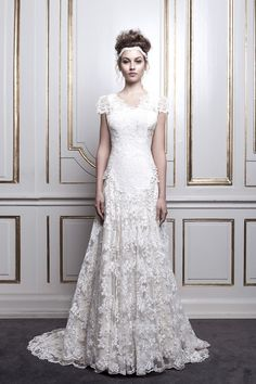 838c174cea12 Couture silk wedding dress with Couture lace. Made by   Angelika Dluzen  Couture-Stuen · BrudekjolerBlonder Bryllupper