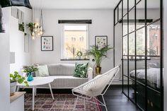 salón en apartamento de 35 metros #hogarhabitissimo #salon
