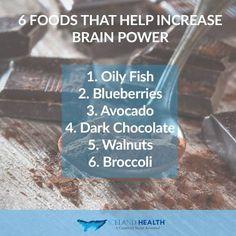 Foods that Help Increase Brain Power