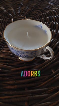Make A Charming Teacup Candle