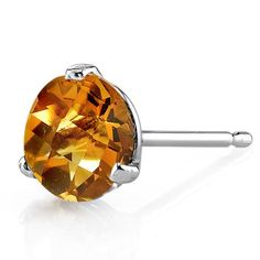 MSRP: $399.99  Our Price: $199.99  Savings: $200.00    Item Number: E18448    Availability: Usually Ships in 5 Business Days    PRODUCT DESCRIPTION:    These beautiful earrings for her feature Genuine Citrine Gemstones with a Golden Orange Hue with Brilliant Sparkle in 14k White Gold and are essential for any girl's jewelry collection. These gorgeous studs are fashioned into sleek white gold three-pronged martini settings. Fit is secure and comfortable with post-tension earrings backs…
