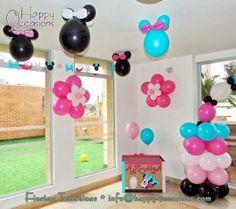 Decoración Fiesta Minnie Mouse www.happy-occasions.com