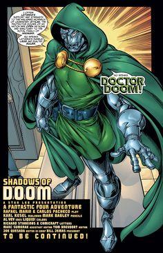 Fantastic Four - Shadows of Doom Dr Doom Marvel, Marvel Dc, Marvel Comics, Mark Bagley, Good Doctor, Title Page, Fantastic Four, Dc Heroes, Amazing Spider