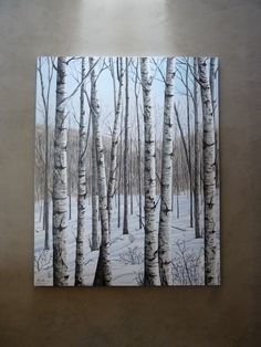 white birches Birch Tree Art, Birch Trees Painting, Landscape Quilts, Pallet Art, Art Abstrait, Acrylic Art, Painting Inspiration, Wood Art, Art Lessons