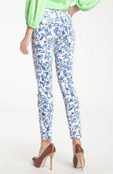 Latest Trend 2012: Printed Pants - DVF Loves Current/Elliott 'Classic Skinny' Jeans