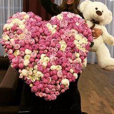 Thousands peonies flower heart