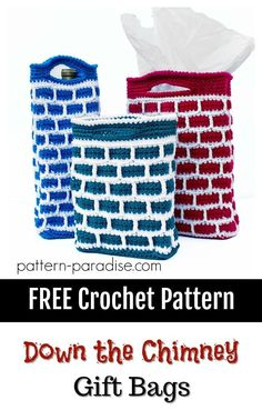 #12WeeksChristmasCAL - Down the Chimney Gift Bags | Pattern Paradise