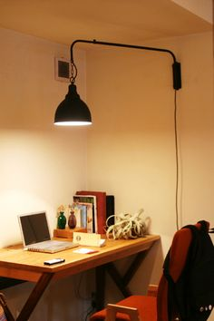 Desk Lamp, Table Lamp, Laptop Camera, Home Nyc, Interior Architecture, Interior Design, Pipe Lighting, Little Girl Rooms, New Room