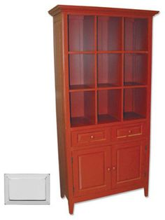 Stained Painted Display and Storage Cabinet