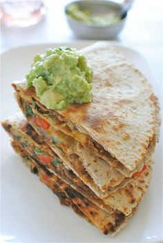 Slow Cooker Chipotle Steak Quesadillas / Bev Cooks