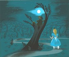 mothgirlwings:    Concept art by Mary Blair for Walt Disney's Alice In Wonderland (1951)