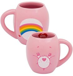 Cheer Bear Care Bears Oval Ceramic Coffee Mug - Vandor - Care Bear Mug – Always Fits Unique Coffee Mugs, Funny Coffee Mugs, Disney Cups, Bear Character, Bear Wallpaper, Retro Gifts, Coffee Is Life, Baby Shower, Care Bears