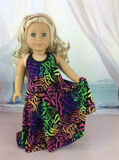 Tag am Strand 18-Zoll-Puppe Dress passt von HoschPoschCreations