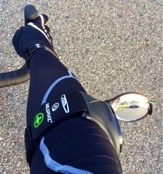 A Happy Customer Using the RearViz Classic Black with the medical ID tag included in the armband