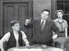 """The Honeymooners"" (1955-56)  Art Carney as Ed Norton  Jackie Gleason as Ralph Kramden  Audrey Meadows as Alice Kramden"