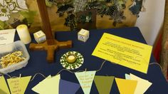 Ascension prayer bunting set up.in school.