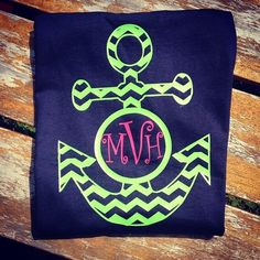 Unisex Chevron Anchor Heat Press Tshirts (Toddler, Youth & Adult)