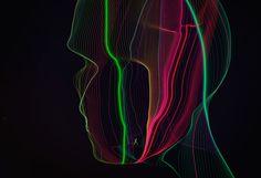 Head Flows by Oleg Soroko Typography, Lettering, Flow, Digital Art, Neon Signs, Graphic Design, Portrait, Drawings, Creative