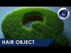 Hair Object on Text - Cinema 4D tutorial - YouTube
