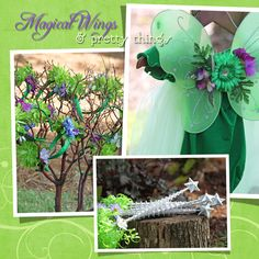 fairy costumes, headbands and wands