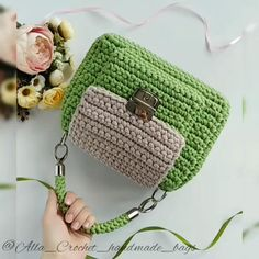 Diy Crochet Bag, Crochet Mug Cozy, Crochet Bag Tutorials, Crochet Case, Crochet Market Bag, Crochet Wool, Crochet Videos, Crochet Instructions, Crochet Backpack Pattern