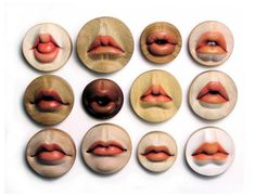 Wooden buttons... How beautifully bizarre ... or bizarrely beautiful...