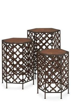 Buy Set Of 3 Fretwork Tables from the Next UK online shop