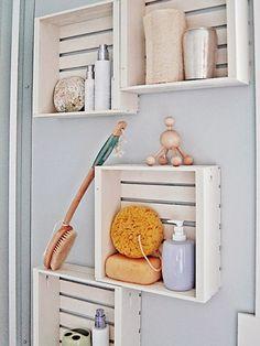 8 muebles auxiliares para el baño (diy & obra) por Anna Gaya. Afortunado...