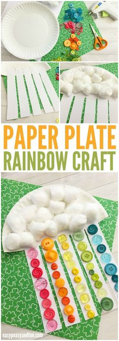 Adorable Paper Plate Rainbow Craft for Kids- fruit loops not buttons