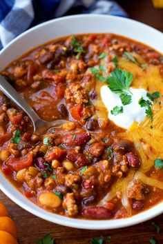 There's nothing better than a bowl full of chili on a cold day! My turkey pumpkin chili is flavorful and loaded with protein & fiber!