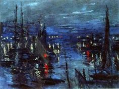 Claude MONET - The Port of Le Havre, Night Effect. 1873