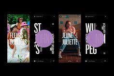 Tournée Québec Cinéma on Behance Juliette, Web Instagram, Poster Series, Graphic Design Studios, Messages, Mood Boards, The Past, Typography, Branding