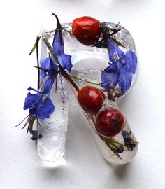 Ice font with flowers and fruit by Petra Blahova  via @IMargolius